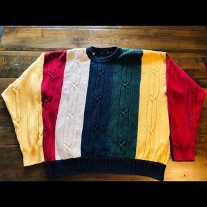 Vintage nautica color block sweater
